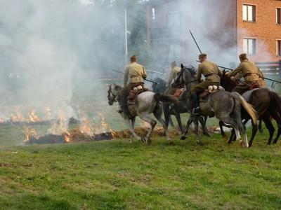 Pokaz konny Kawalerii Kowalów z Borowa.